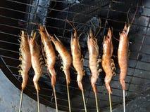 Vietnamesisk kokkonst: grillad räka Arkivfoto