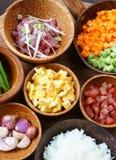 Vietnamesisk mat, stekt ris, asiatiskt äta Royaltyfri Bild