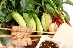 Vietnamesisk sommarrulle eller Namnuang Arkivbilder
