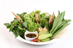Vietnamesisk sommarrulle eller Namnuang Royaltyfri Foto