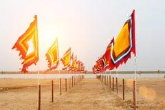 Vietnamesisk traditionell flagga Royaltyfri Fotografi