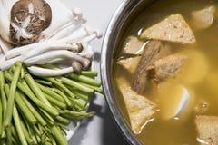 Vietnamesisk vegetarisk varm kruka Arkivbilder