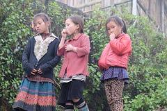 Vietnamesiska etniska H'mong barn spelar Royaltyfri Fotografi