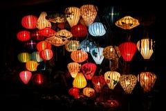 Vietnamesiska lyktor shoppar Royaltyfri Fotografi