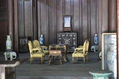 Vietnamesiskt gammalt wood hus Ton Vietnam Royaltyfria Foton