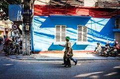 Vietnamesiskt gataliv av Ho Chi Minh City Vietnam royaltyfri fotografi