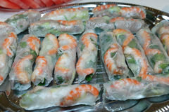 Vietnamesiskt nytt Ricepapper Rolls arkivfoton