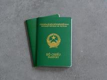 Vietnamesiskt pass Arkivfoto