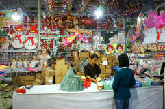Vietnamien ; achats, marché, vacances de Noël Photo libre de droits