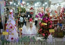 Vietnamita; acquisto, mercato, festa di natale Fotografia Stock Libera da Diritti