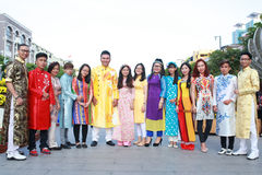 Vietnamita ao DAI Immagini Stock Libere da Diritti