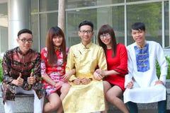 Vietnamita ao DAI fotografie stock