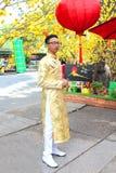 Vietnamita ao DAI Immagine Stock