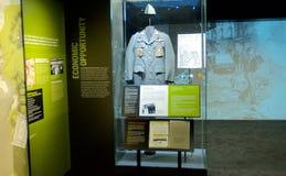 Vietnamkrieg-Ausstellung innerhalb des nationalen Bürgerrecht-Museums bei Lorraine Motel Stockbild