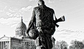 Vietnamkrieg-Monument am Staat Oklahoma-Kapital lizenzfreie stockfotografie