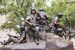Vietnamkrigetminnesmärke i Austin, Texas Arkivfoto