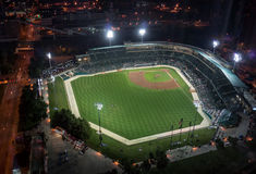 Vietory Field. Indiananpolis, Indiana, USA- Auugust 16, 2016.  View of Victory Field, home of the Indianapolis Indians, playing the Louisville Bats Royalty Free Stock Image