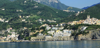 Vietri. On the Amalfi coast from sea Stock Images