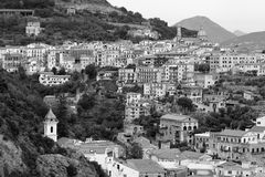 Graphical view of Vietri sul Mare Town, Amalfi Coast, Italy stock images