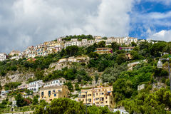 Vietri Sul Mare - a typical italian coastal town. Royalty Free Stock Image