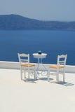 Vieuw del mar, Santorini Imagen de archivo libre de regalías