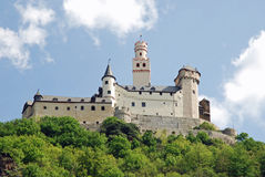 Vieuw on Marksburg Castle, Braubach, Germany Stock Photography