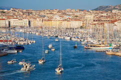 Vieux端口,马赛,法国 库存图片