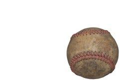 Vieux à l'extérieur usé base-ball photos libres de droits