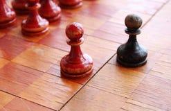 Vieux échecs Image stock