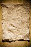 Vieux, écrasé papier Image stock