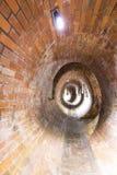Vieux égouts dans l'odz polonais de  de la ville Å construction en briques Photographie stock libre de droits