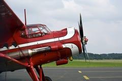Vieux aéronefs rouges de deux-ponts Photographie stock
