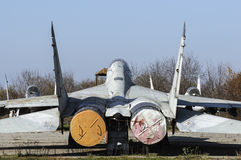 Vieux, abandonnés avions militaires Image libre de droits