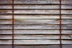 Vieux abat-jour d'hublot en bois Photos stock