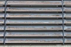 Vieux abat-jour d'hublot en bois Photographie stock libre de droits