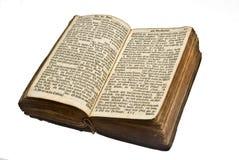 vieux allemand de bible ouvert Photo stock