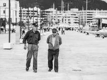 Vieux amis d'Ibiza Images libres de droits