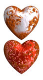 Vieux amour et haine rouillés de coeur Images libres de droits