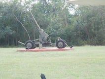 Vieux antiaérien d'armée d'arme à feu d'artillerie Image stock