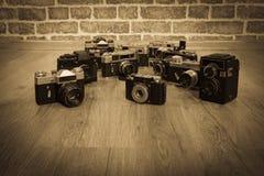 Vieux appareils-photo Photo libre de droits