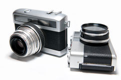 Vieux appareils-photo Images stock