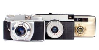 Vieux appareils-photo Photographie stock libre de droits