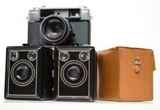 Vieux appareils-photo Images libres de droits