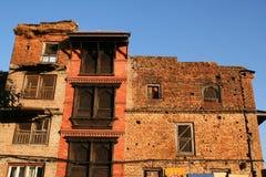 Vieux appartements de brique Photos libres de droits