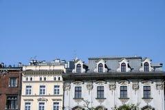 Vieux appartements de ville de Cracovie Photographie stock
