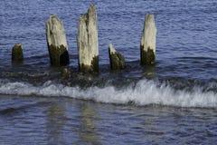 Vieux appuis décomposés de pilier de 50 points Image libre de droits