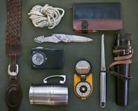 Vieux articles pour le voyage. Image stock