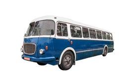 Vieux autobus + chemin de coupure Photo libre de droits
