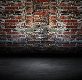 Vieux avec le mur de briques illustration stock