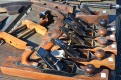 Vieux avions en bois image stock